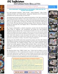 ITC-Tajikistan-Info-Bulletin-#2-2013-ENG-1